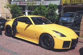 custom nissan 350z for sale this nissan 350z lamborghini audi mashup is a custom disaster