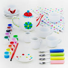 paint your own tea set teas gift and craft