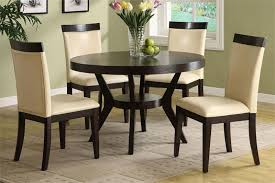 Small Circular Dining Table And Chairs Downtown Round Deep Espresso Dining Table Set Dining Table Set