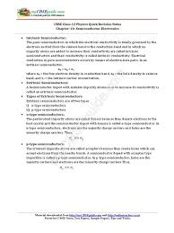 12 physics notes ch14 semiconductor electronics p u2013n junction