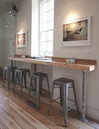 Wall Bar Table Are A Match Wood Pipes And Stools
