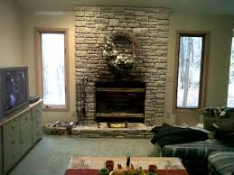 architecture fireplace before stone rework artificial stone wall