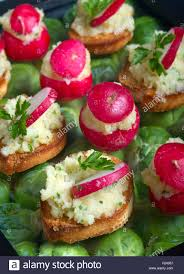 canapes finger food canapes small finger food suitable for stock photo