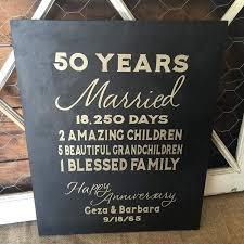 50 year wedding anniversary 50 year wedding anniversary custom sign in gold black