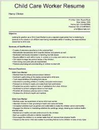 Sle Resume Of Child Caregiver Daycare Resume Daycare Resume 100 Childcare