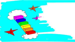 how to draw a stairway to heaven in rainbow colors i dot to dot i