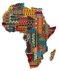 africa map fabric map of the continent of africa made from fabric to various
