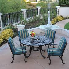 Cast Aluminum Patio Furniture Sets Patio Table With Lazy Susan And 5