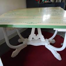 vintage enamel kitchen table best vintage porcelain enamel top kitchen table with leaves and