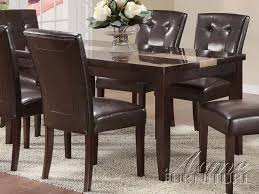 acme furniture acme 16650 faux marble top dining table set