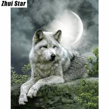 5d diy painting wolf embroidery painting cross