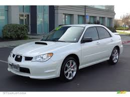 wrx subaru 2007 satin white pearl 2007 subaru impreza wrx sedan exterior photo