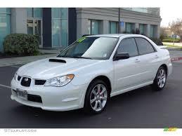 wrx subaru 2007 satin white pearl 2007 subaru impreza wrx sedan exterior photo
