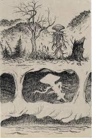 lovecraftian mushroom man sketch by lostonwallace on deviantart