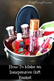 how to make an inexpensive gift basket inexpensive gift gift