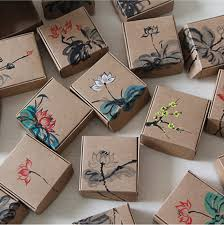 paper wrapped soap 12pcs 7 5x7 5x3cm kraft paper box jewelry gift handmade soap floral