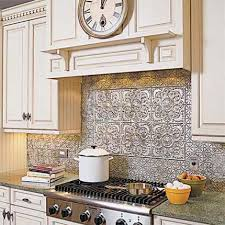Tin Kitchen Backsplash Faux Tin Backsplash Gpsolutionsusa