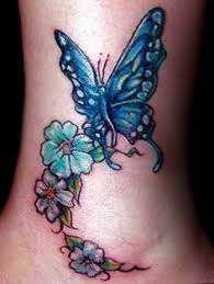 pink butterfly tattoo on ankle butterfly tattoos pinterest