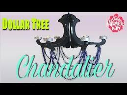 Chandelier Youtube Dollar Tree Diy Chandelier Youtube 2017 Projects Pinterest