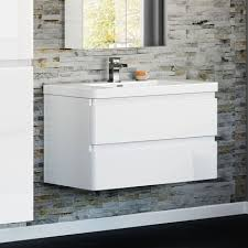 900mm Bathroom Vanity by Chicago 900mm Gloss White Wall Hung Basin Vanity Unit 249 99