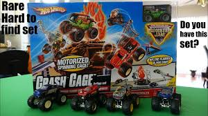 monster truck jam youtube wheels u0027 monster jam crash cage action set unboxing u0026 playtime