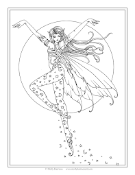 free fairy coloring page luna u0027s ascent by molly harrison fantasy