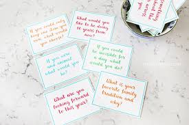 family dinner conversation starter cards the crafting