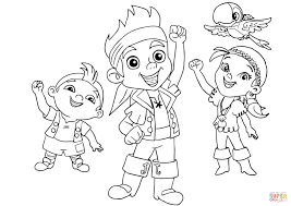 jake and the neverland pirates map coloring pages