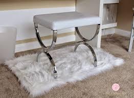 Vanity Bench Seat Vanity Seat Flare Back Vanity Chair Vintage French Provincial
