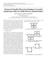 design of tunable microstrip bandpass cascaded quadruplet filter