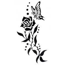 waterproof sticker fashion black flower vine
