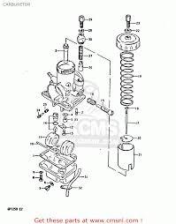 suzuki gp125 1981 x e02 e04 e17 e18 e21 e22 e41 carburetor