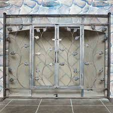 epic fireplace screen with doors about remodel amazing home