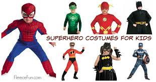Kids Superhero Halloween Costumes Super Hero Costume Ideas Kids Fleece Fun