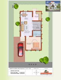 west facing duplex house plans modern india for 30x50 site design