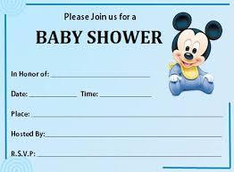 baby mickey mouse baby shower invitations iidaemilia