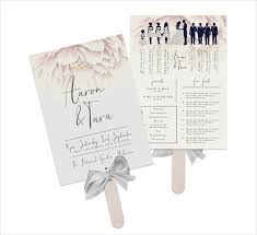 wedding program paddle fan template 8 wedding fan program templates psd vector eps ai illustrator