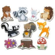 forest animal felt pieces flannel board story felt board