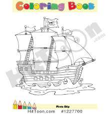 pirate ship clipart 1227700 pirate ship coloring book