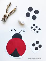 ladybug cutting and pasting activity for kids free printable