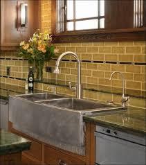 kitchen brown backsplash tile black and gray backsplash stove
