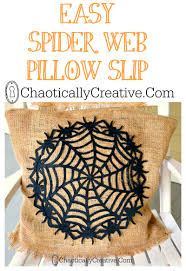 halloween pillows spider web pillow chaotically creative