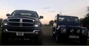 dodge vs ram dodge ram diesel cummins vs land rover defender 90 not the