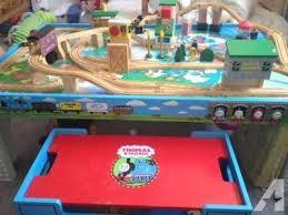 thomas train set wooden table thomas friends wooden railway set island of sodor table board