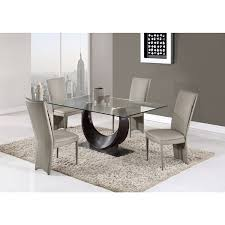 global furniture dining table global furniture wenge glass and mdf dining table n a free