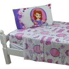 3pc disney sofia twin bed sheet princess training