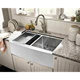 Amazoncom Farmhouse Apron Front Kitchen Sinks  Kitchen  Bar - Farmer kitchen sink