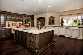 White And Dark Kitchen Cabinets by Home Design White Or Dark Kitchen Cabinets With Regard To Wood