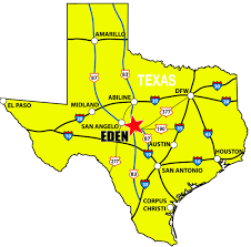 Map Of The State Of Texas Where Is Eden Eden Tx