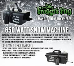 amazon com froggys fog 600 watt snow flake machine for outdoor
